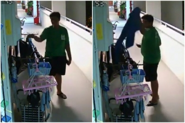 Grab investigates deliveryman seen taking customer's shoes - and putting them into food bag